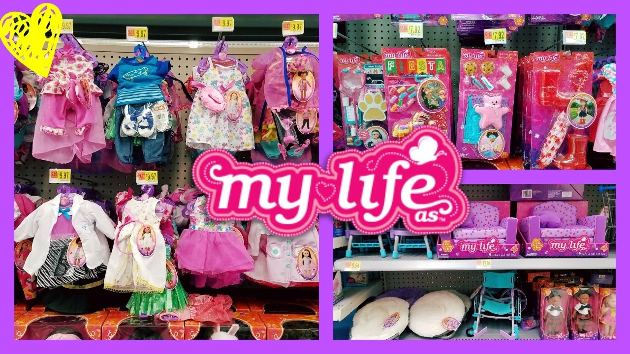 My Life As Doll Clothes Section At Walmart 2017 Youtube