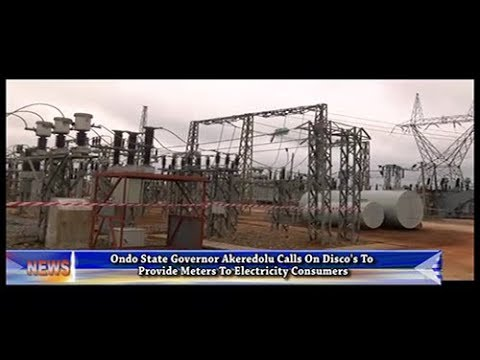 Governor Akeredolu Commissions Power Transformer At Akure Transmission Subsation