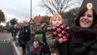 Intocht Sinterklaas Hoge Enk per helicopter