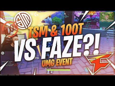 TSM Myth - TSM & 100T VS FAZE!?! (14 FRAGS) | (Fortnite BR Full Match)