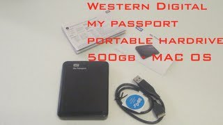 Western Digital My Passport Portable Hard Drive - 500GB - (MAC)