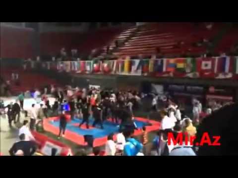 Armenian And Azerbaijan Sportsmans Fight In Tbilisi