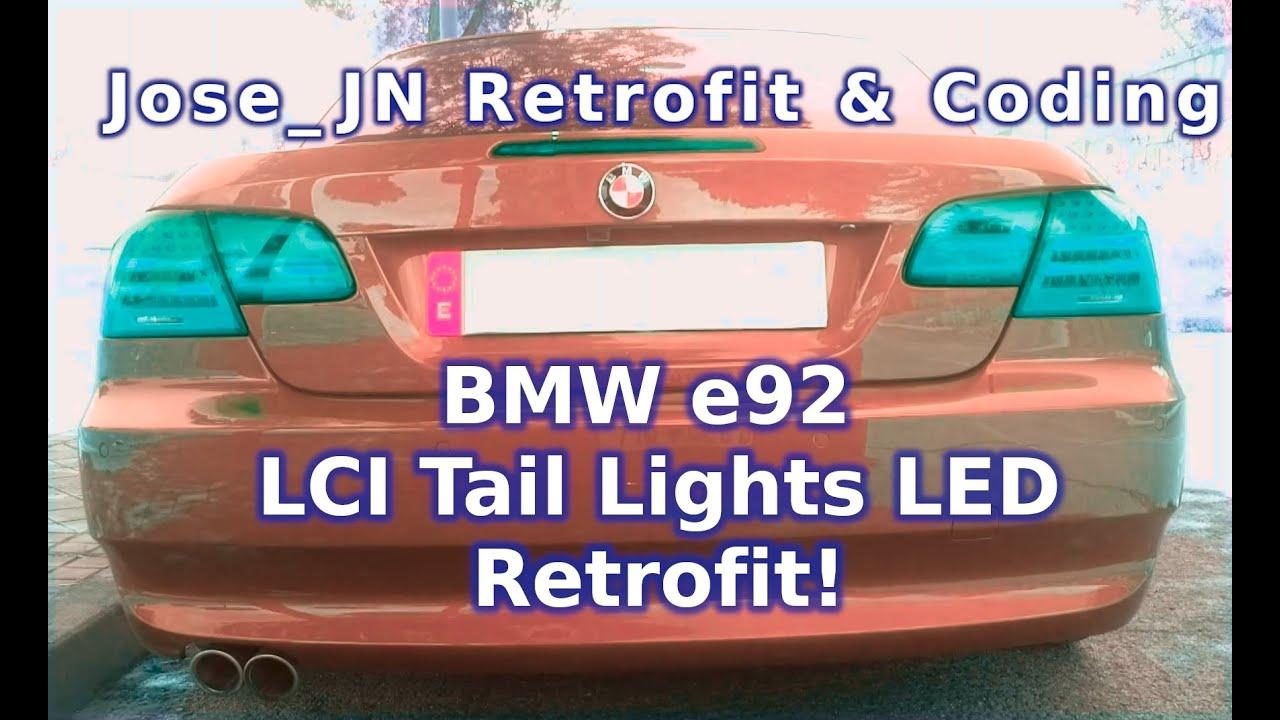 Retrofitting Lci Led Tail Lights On A Bmw E93 Jose Jn Hitech Frm Module Location