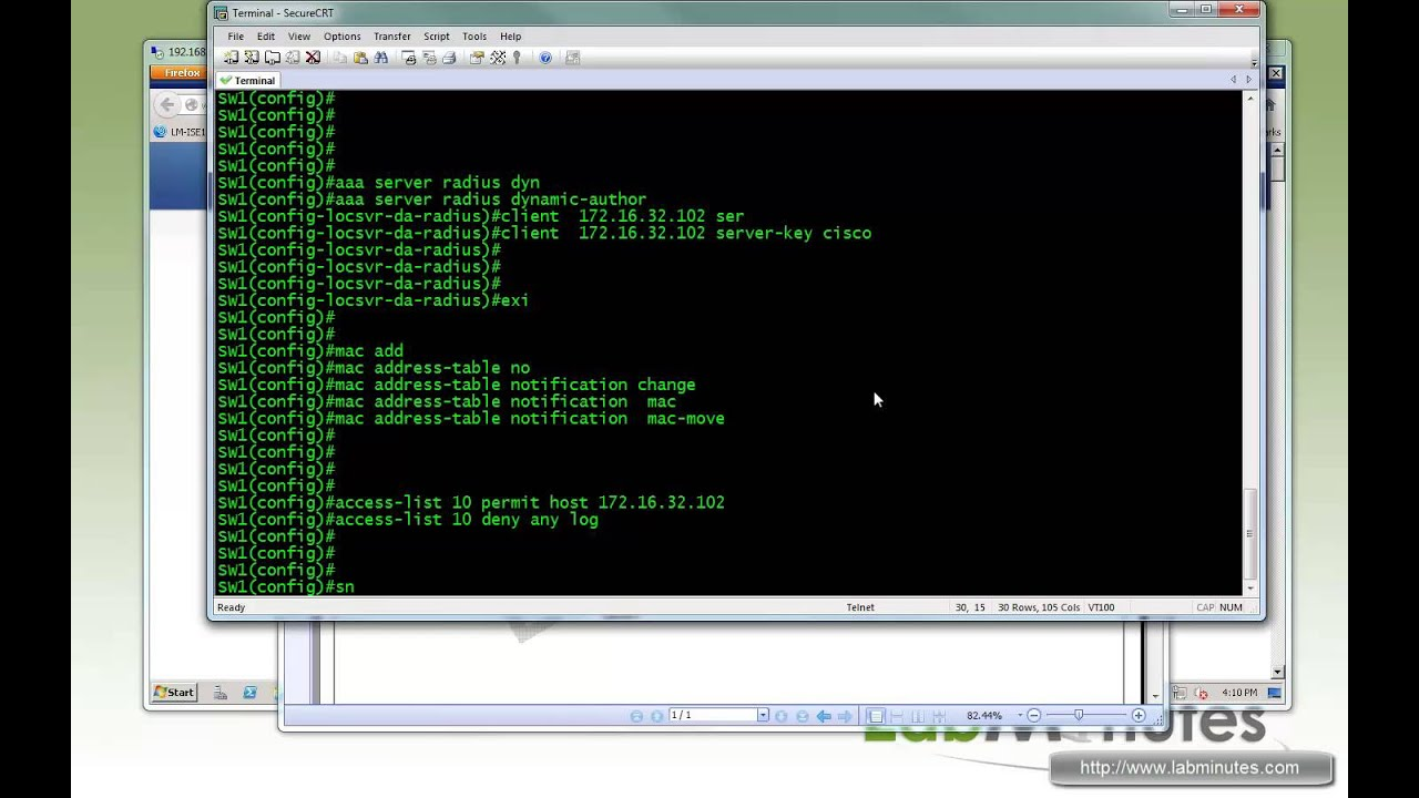 LabMinutes# SEC0038 - Cisco ISE 1 1 802 1X Switch and WLC Recommended  Config (Part 1)