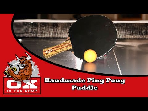 Making a Ping Pong Paddle with Exotic Woods