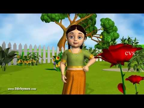 Roses are Red Violets are Blue - 3D Animation English Nursery rhyme for children