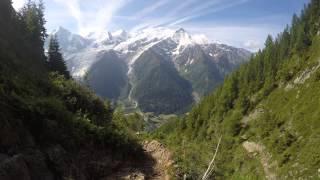 VIDEO 4K EN Dessus dU PARC Merlet VALEE DE CHAMONIX FRANCE GOPRO 4K 22 .6.15