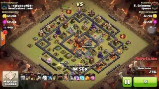 [Clash of Clans] QW suicide BK Laloon | TH10 | 3stars #055