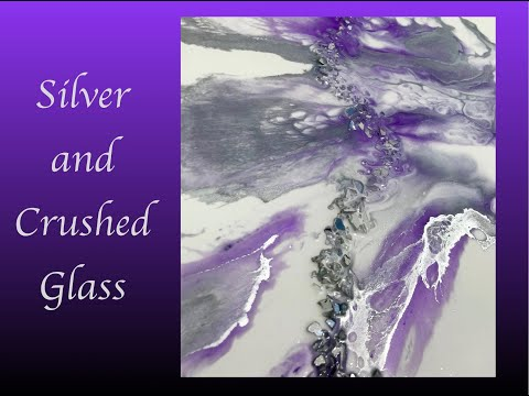 Resin Art Alcohol Ink and Crushed Glass Embellishments