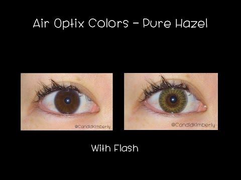 Air Optix Colors On Dark Eyes Pure Hazel Youtube