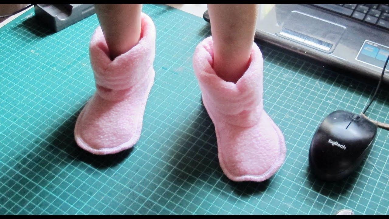 Как сшить домашние меховые тапочки