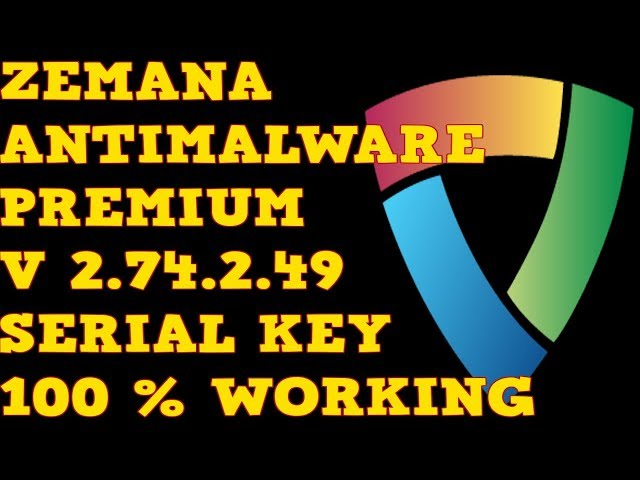 zemana antimalware licence key 2017