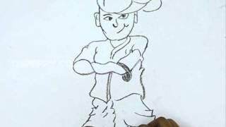 How to Draw a Funky Boy