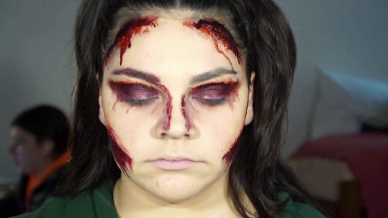 Killer Makeup Halloween Look - First YouTube Video!!!! - YouTube