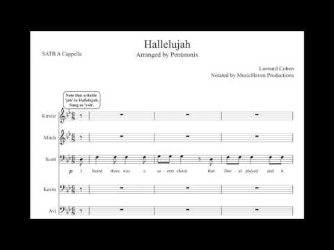 Hallelujah ptx sheet music