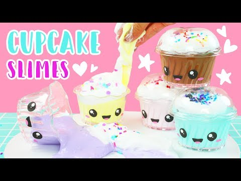 How To Make Kawaii Cupcake Scented Fluffy Slime! 💕