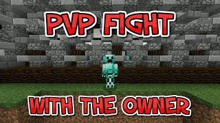 PVP Fight With The Owner Of The Server - Minecraft PE (Pocket Edition)