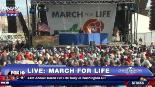 Fnn: march for life 2017 washington dc featuring vice president mike pence