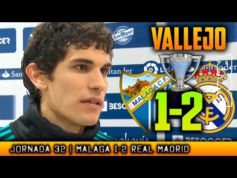 VALLEJO reacción post Málaga 1-2 Real Madrid (15/04/2018) |