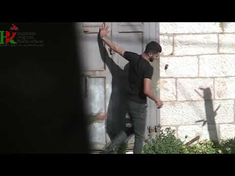 The Israeli occupation army harassed Palestinian youths in Hebron