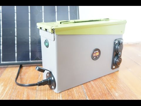 How to build a portable 420 watt solar power generator (vide
