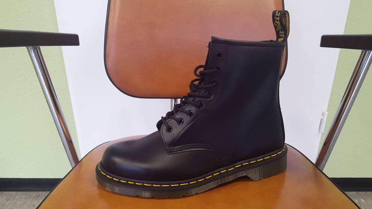 Dr. Martens Smooth Black 1460 Schuhe 8 Loch Stiefel Boots Schwarz| Overview | Review |