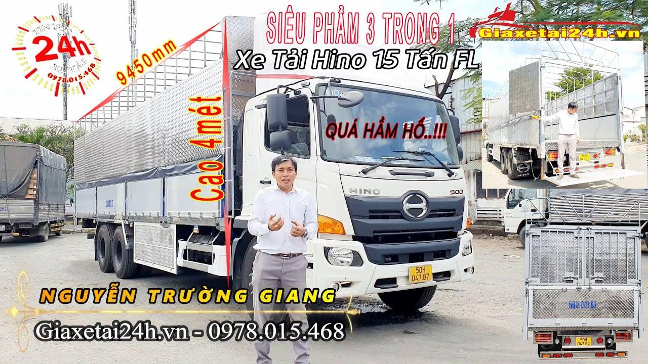 Siêu Phẩm Cho Ngành Vận Tải | Xe Tải Hino 15 Tấn FL Thùng Nhôm Hưng Yên Cao 4 mét |giaxetai24h.vn|