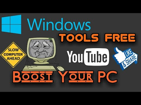 Windows tools optimize your slow PC (Clear Satisfaction)