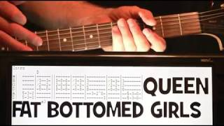 Queen Fat Bottomed Girls Guitar Chords Lesson with Tab