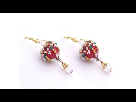 "Beading4perfectionists : ""Dangle Bells"" earrings beading tutorial"