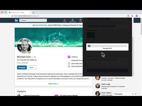 Add Tags and Notes to LinkedIn Profiles with Markd (updated design)