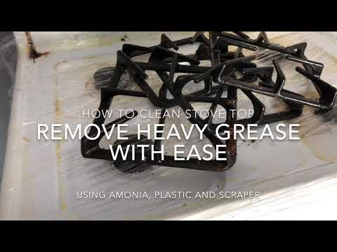 How to clean cooking grease from Stove Top
