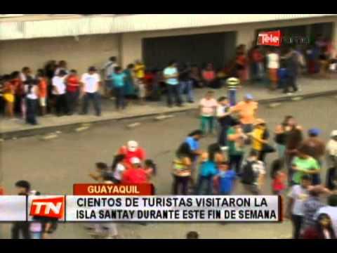 Cientos de turistas visitaron la isla Santay durante ete fin de semana