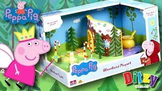 PEPPA PIG Gingerbread house fairytale woodland playset   Toy review & play   The Ditzy Channel