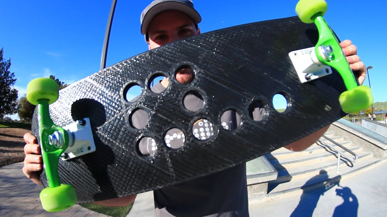 WILL THE 3D PRINTED SKATEBOARD BREAK? | YOU MAKE IT WE SKATE IT EP 100