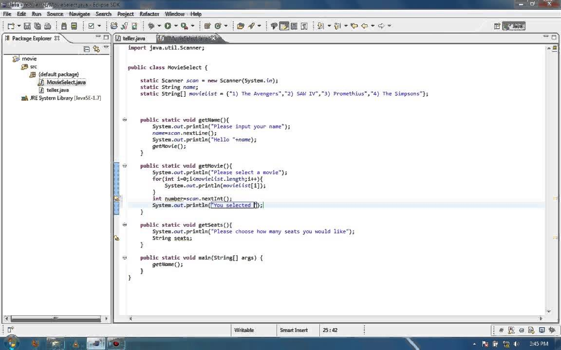 Java Programming Basics Movie Ticket 4 Final Video