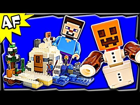 Lego Minecraft SNOW HIDEOUT 21120 Stop Motion Build Review