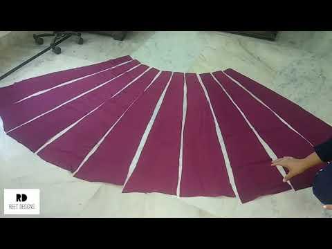 Kalidar Lehenga/Skirt Cutting and Stitching || Bridal Lehenga Cutting and Stitching