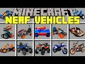 Minecraft NERF VEHICLES MOD / NERF BATTLE WITH TANKS, CARS, BIKES & MORE! / Modded Mini-Game
