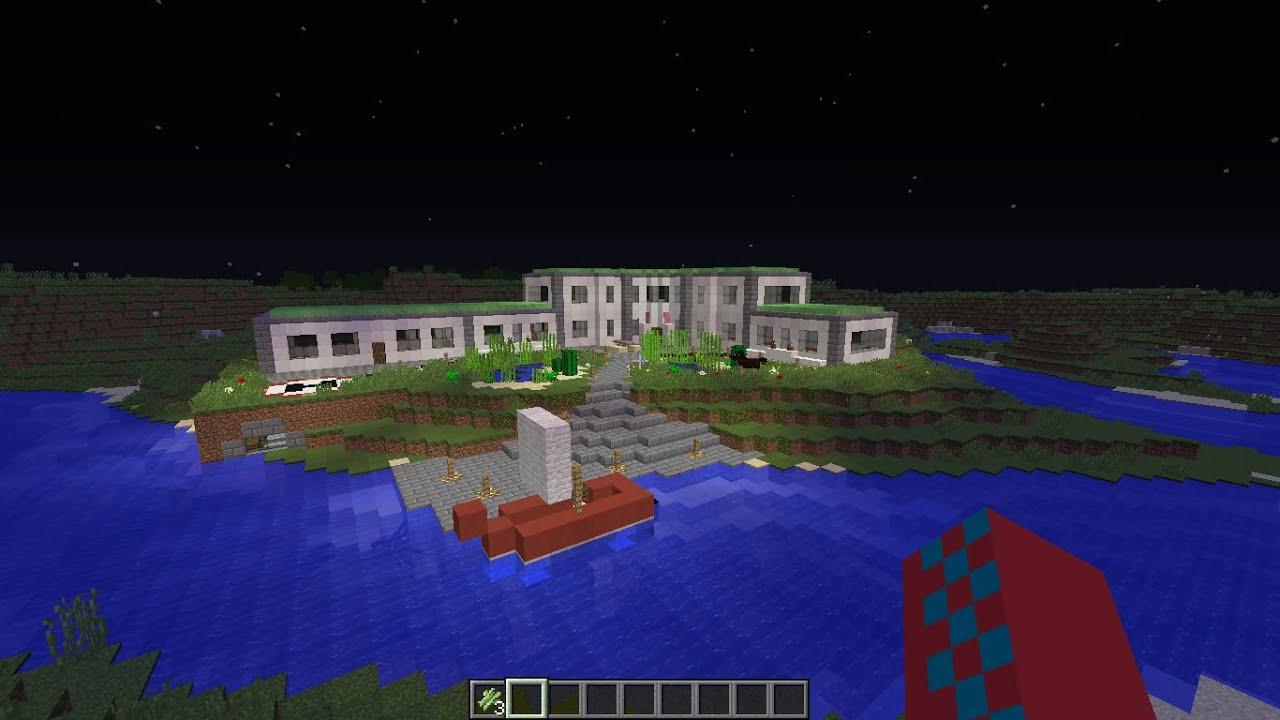 minecraft maison moderne et de luxe