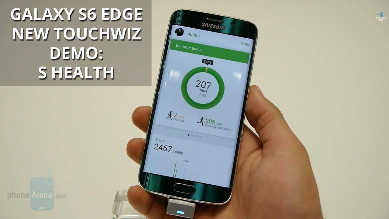 Samsung Galaxy S6 Edge New TouchWiz Demo S Health