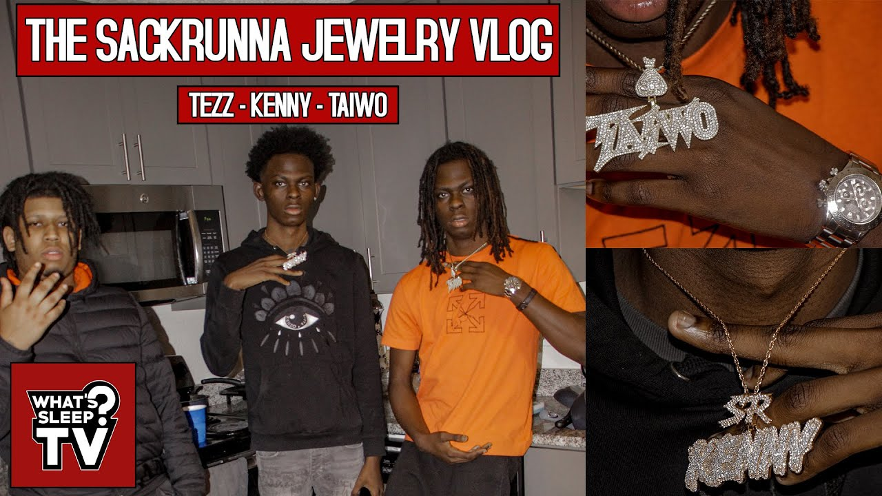 Sackrunna Kenny & Sackrunna Taiwo Show New Chains, & Talk Music Plans With Sackrunna Tezz