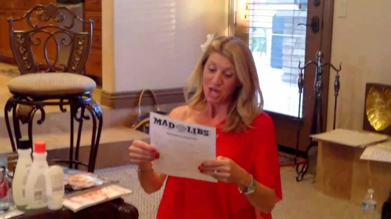 bridal shower mad libs game keiths story 1