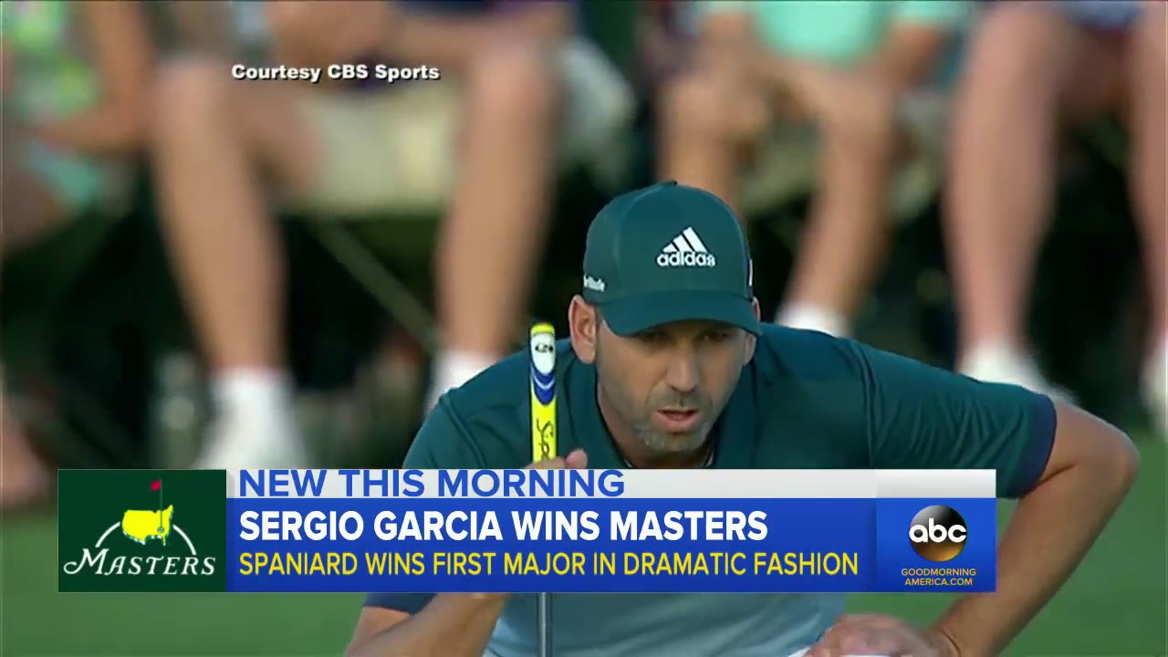 82355379669c Sergio Garcia wins the Masters in sudden-death playoff. ABC News