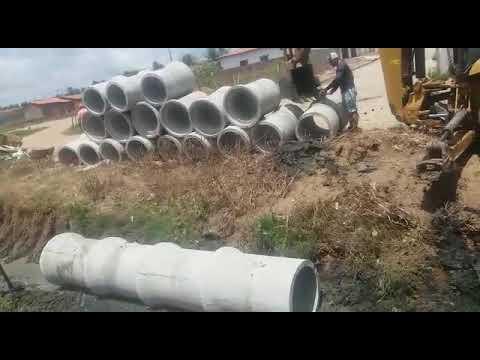 Em Mulungu: Prefeito Melquíades, autorizou início da obra de drenagem nos conjuntos. Vídeo e imagens!