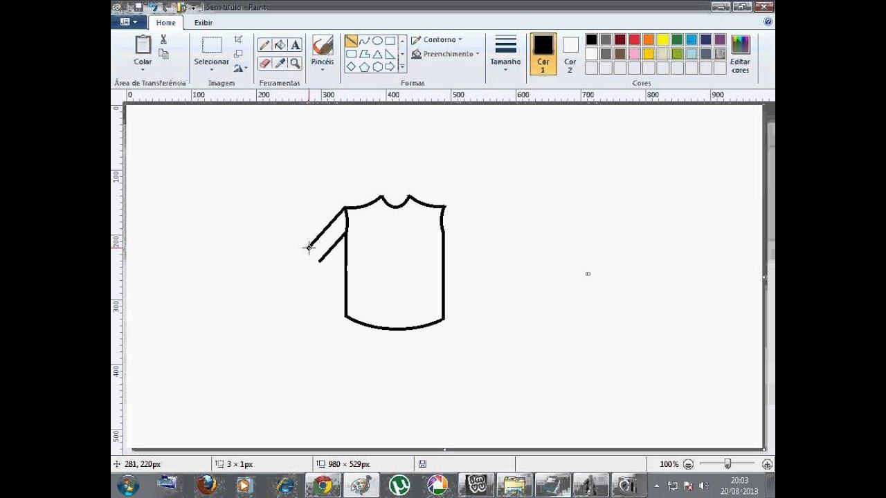 Como Criar uma Camisa no Paint - YouTube