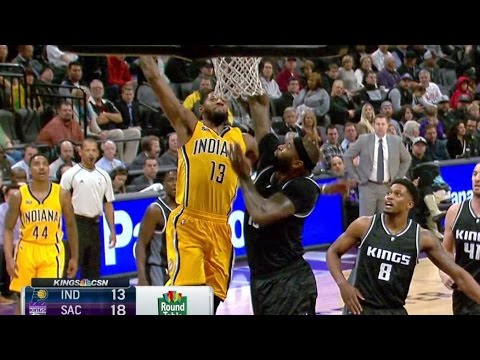 Paul George Dunks on DeMarcus Cousins! Rudy Gay Injury Season Ending Pacers vs Kings