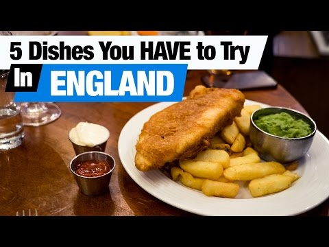 British Food Tour - 5 Dishes You HAVE to Try in England! (Am