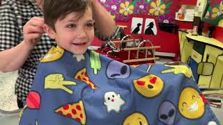 Zack Haircut at the store on Power Wheels Toys