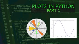 Making Data Plots in Python (Basics of MatPlotLib)
